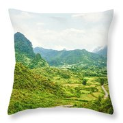 Valley Panorama Throw Pillow