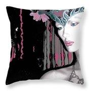 Vamp Five Throw Pillow