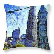 Van Gogh Sips Absinthe And Takes In The Views From North Beach In San Francisco . 7d7431 Throw Pillow