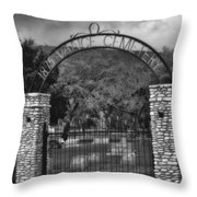 Vance Cemetery Black And White Throw Pillow