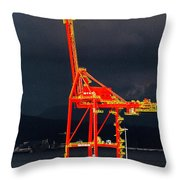 Vancouver, Bc - Harbour Throw Pillow