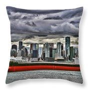 Vancouver Freighter Hdr Throw Pillow