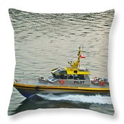 Vancouver Harbour Pilot Throw Pillow