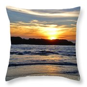 Vancouver Island Sunset Throw Pillow