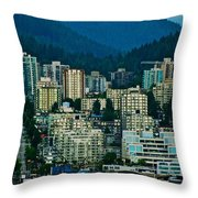Vancouver Rooms With A View Throw Pillow