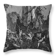 Vandal Invasion Of Africa Throw Pillow