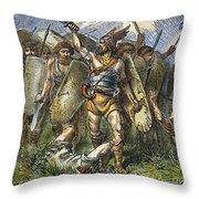 Vandal Invasion Of Rome Throw Pillow