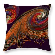 Variegated Abstract Throw Pillow