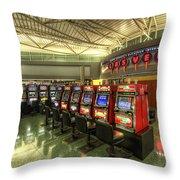 Vegas Airport 2.0 Throw Pillow