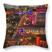Vegas Strip Throw Pillow
