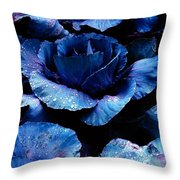 Vegetables, Red Cabbage Throw Pillow
