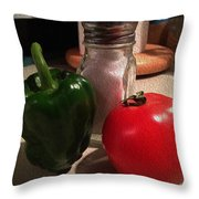Veggies And Salt Throw Pillow