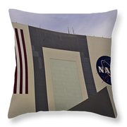 Vehicle Assembly Building Throw Pillow