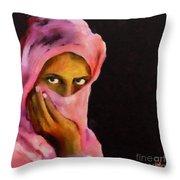 Veiled Beauty Throw Pillow