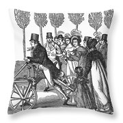 Velocipede, 1827 Throw Pillow