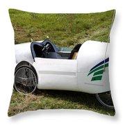 Velomobile Throw Pillow