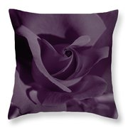 Velvet Rose Throw Pillow