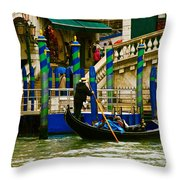 Venetian Colors Throw Pillow