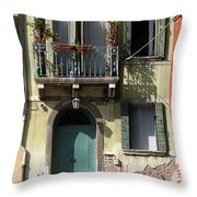 Venetian Doorway Throw Pillow