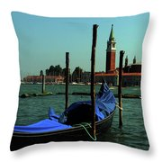 Venetian Gandola Throw Pillow