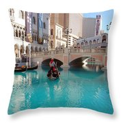 Venetian Lagoon Las Vegas Throw Pillow