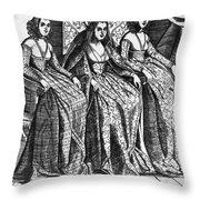 Venetian Women, C1600 Throw Pillow