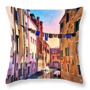 Venice Alleyway Throw Pillow