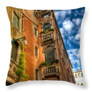 Venice Apartment  Throw Pillow