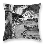 Venice: Arsenal, 1793 Throw Pillow