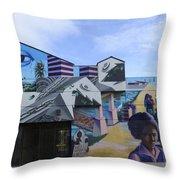 Venice Beach Wall Art 2 Throw Pillow