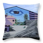 Venice Beach Wall Art 3 Throw Pillow
