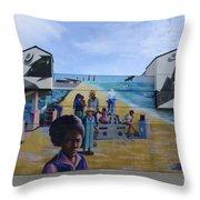 Venice Beach Wall Art 4 Throw Pillow