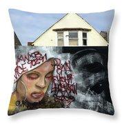 Venice Beach Wall Art 5 Throw Pillow