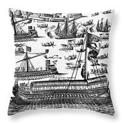 Venice: Bucentaur Throw Pillow