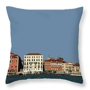 Venice Cityscape On The Lagoon Throw Pillow