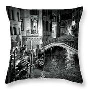 Venice Evening Throw Pillow