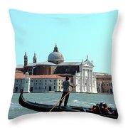 Venice From A Gandola Throw Pillow