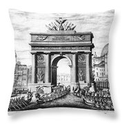 Venice: Grand Canal, 1807 Throw Pillow