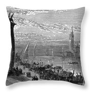 Venice: Grand Canal, 1875 Throw Pillow
