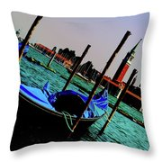 Venice In Color Throw Pillow