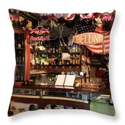 Venice Jazz Bar Throw Pillow
