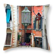 Venice Lamp Throw Pillow