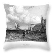 Venice: Lido, 1833 Throw Pillow