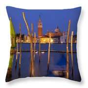 Venice Night Throw Pillow