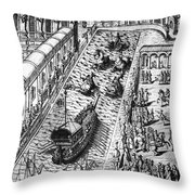 Venice: Procession Throw Pillow