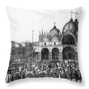 Venice: Saint Marks, 1797 Throw Pillow