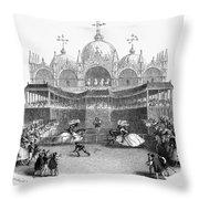 Venice: Tournament Throw Pillow