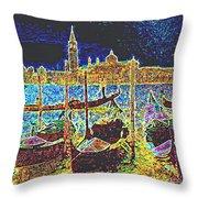 Venice Venezia Glow Throw Pillow