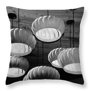 Vented Lights In Black And White Throw Pillow