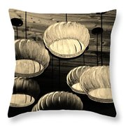 Vented Lights In Sepia Throw Pillow